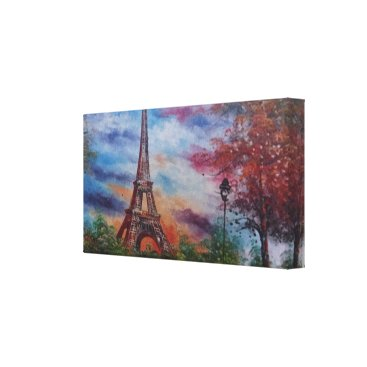 merydesigns Eiffel Tower Paris Canvas Print