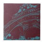 Eiffel Tower Paris Ceramic Tile