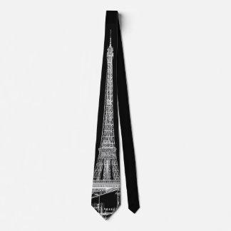Eiffel Tower Paris Cityscape Sketches Men's Tie