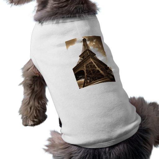Eiffel tower Paris Doggie T-shirt