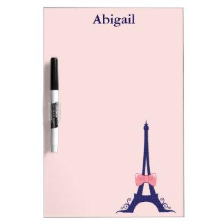 Eiffel Tower Paris Dry-Erase Board