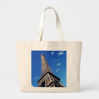 Eiffel Tower Paris Europe Travel Large Tote Bag