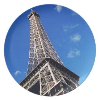 Eiffel Tower Paris Europe Travel Melamine Plate