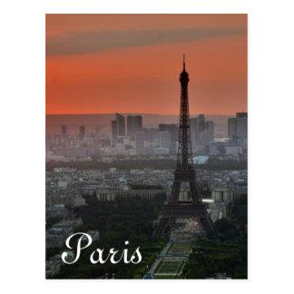 Eiffel Tower Paris Europe Travel Postcard