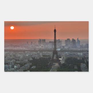 Eiffel Tower Paris Europe Travel Rectangular Sticker