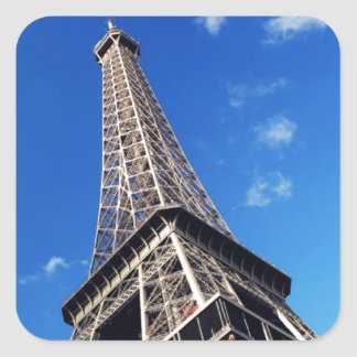 Eiffel Tower Paris Europe Travel Square Sticker