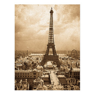 Eiffel Tower Paris Exposition Universelle 1900 Postcard