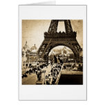Eiffel Tower Paris Exposition Universelle Card