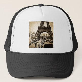 Eiffel Tower Paris Exposition Universelle Trucker Hat