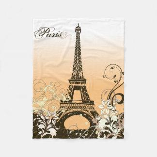 Eiffel Tower Paris Fleece Blanket