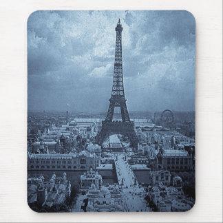 Eiffel Tower Paris France 1900 Blue Toned Mouse Pad