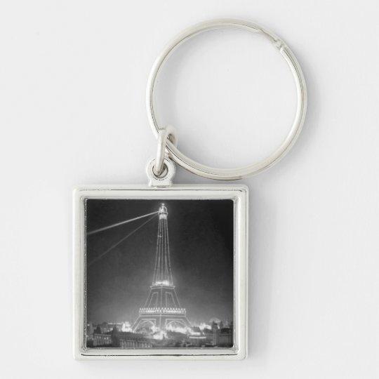 Eiffel Tower Paris France 1900 Keychain