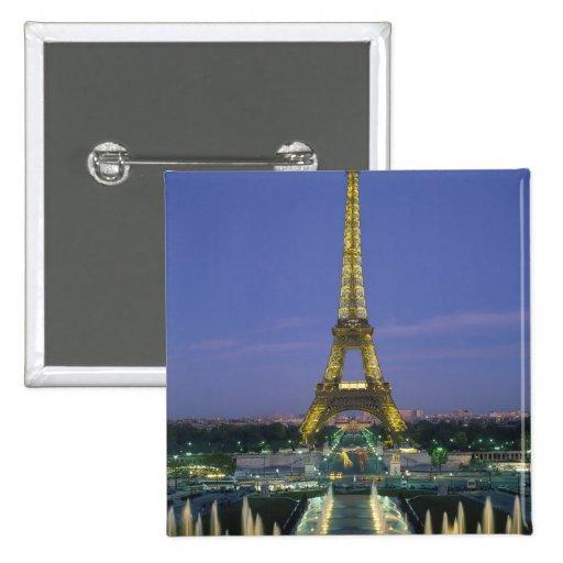 Eiffel Tower, Paris, France 2 Button