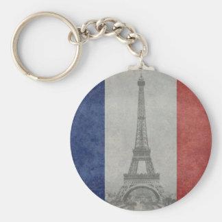 Eiffel tower, Paris France Basic Round Button Keychain