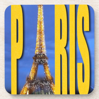Eiffel Tower Paris France Beverage Coasters