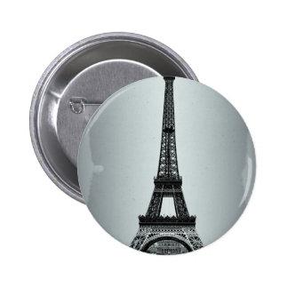 Eiffel Tower Paris France Button