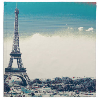 eiffel tower, paris france cloth napkin