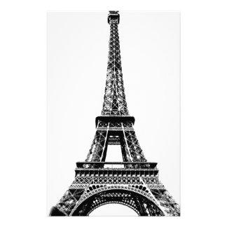 Eiffel Tower Paris France Digital Engraving Stationery