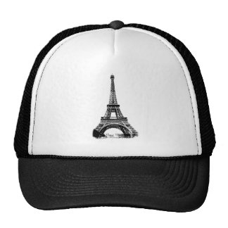 Eiffel Tower Paris France Digital Engraving Trucker Hat