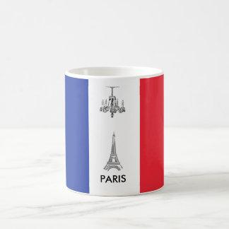 Eiffel Tower Paris,France French Flag Coffee Mug