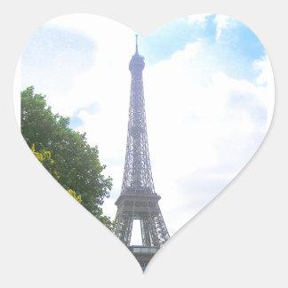 Eiffel Tower, Paris France Heart Sticker