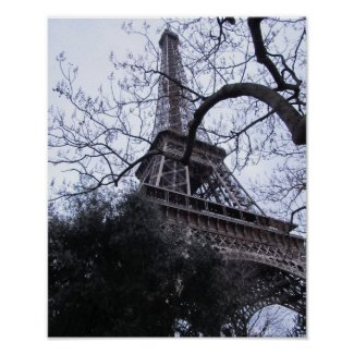 Eiffel Tower, Paris, France, in Winter