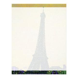 Eiffel Tower Paris France Landmark as Artistic Letterhead