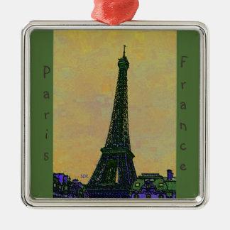 Eiffel Tower Paris France Landmark as Artistic Metal Ornament