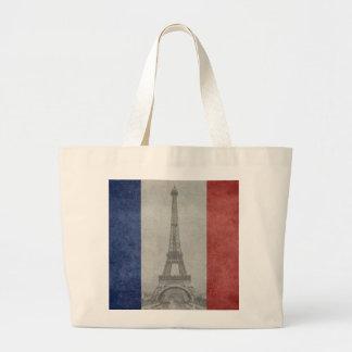 Eiffel tower, Paris France Large Tote Bag