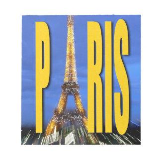 Eiffel Tower Paris France Note Pad