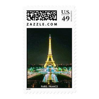 EIFFEL TOWER  PARIS FRANCE POSTAGE STAMPS
