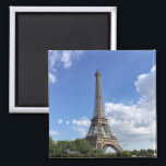"""Eiffel Tower Paris France Souvenir Magnet<br><div class=""""desc"""">Souvenir fridge magnet pictures the Eiffel Tower in Paris,  France. Tip: dates added to your magnets make a fun chronology of your travels.</div>"""