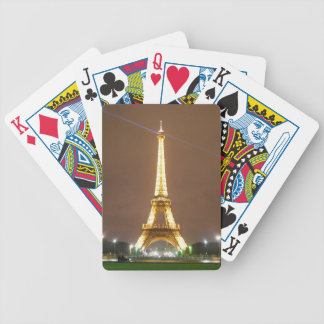 Eiffel Tower Paris France - Springtime Vacation Bicycle Playing Cards
