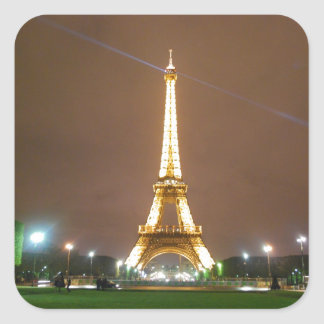 Eiffel Tower Paris France - Springtime Vacation Square Sticker