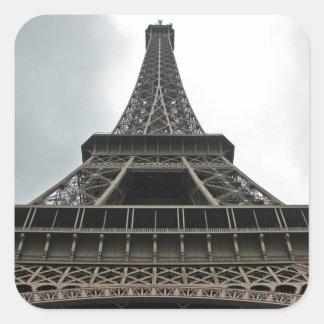 Eiffel Tower Paris, France Square Sticker