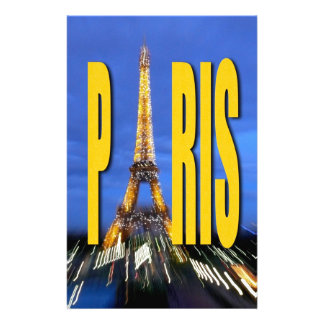 Eiffel Tower Paris France Personalized Stationery