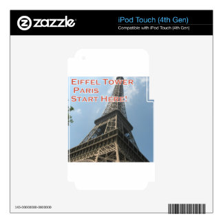 Eiffel Tower Paris France Summer 2016 French iPod Touch 4G Decals