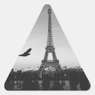 Eiffel Tower Paris France Triangle Sticker
