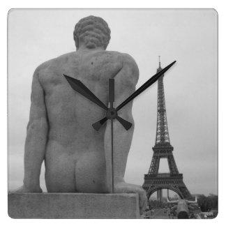 Eiffel Tower, Paris France Wall Clock