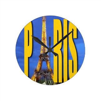 Eiffel Tower Paris France Wall Clocks