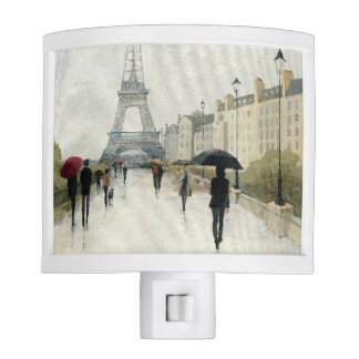 Eiffel Tower | Paris In The Rain Night Light
