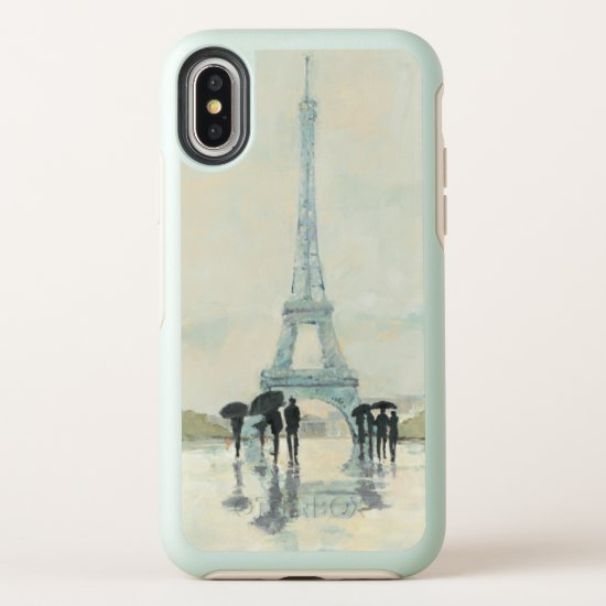 Eiffel Tower | Paris In The Rain OtterBox Symmetry iPhone X Case