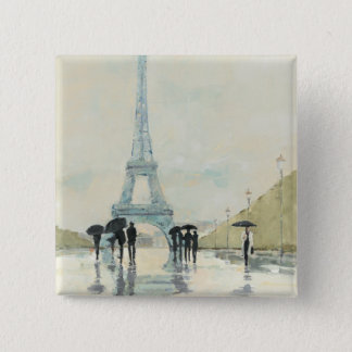Eiffel Tower | Paris In The Rain Pinback Button
