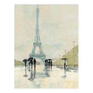 Eiffel Tower | Paris In The Rain Postcard