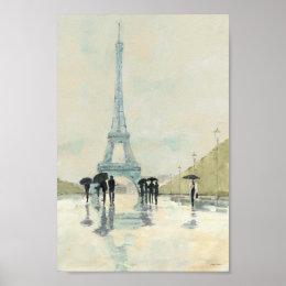 Eiffel Tower | Paris In The Rain Poster
