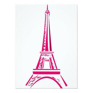 Eiffel Tower Paris 5.5x7.5 Paper Invitation Card