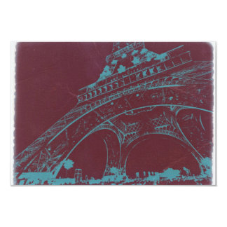 "Eiffel Tower Paris 3.5"" X 5"" Invitation Card"