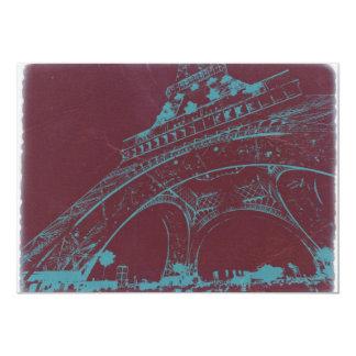 "Eiffel Tower Paris 5"" X 7"" Invitation Card"