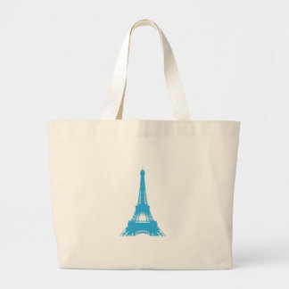 Eiffel Tower Paris Landmark Large Tote Bag