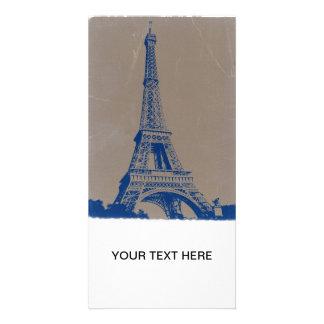 Eiffel Tower Paris Personalized Photo Card